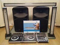 Small DJ set up