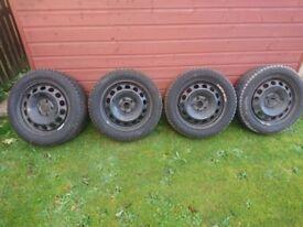 Set of 4 Sailun Ice Blazer winter tyres & wheels
