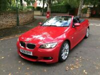 2008 08 BMW 330D M SPORT A CONVERTIBLE CRIMSON RED