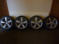 """18"""" alloy wheels & tyres 114 x 5"""