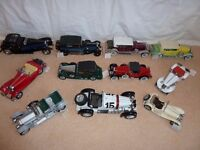 JOB LOT 11 FRANKLIN MINT CARS.
