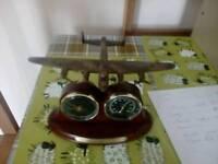 Lancaster bomber 70th Anniversary clock/ barometer The Bradford Exchange.