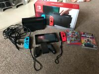 Nintendo Switch, Mario odyssey, Just Dance. 6 Month Manufacturer Warranty Left. Original Box