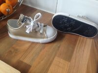 Worn once for two minutes gold converse junior 7