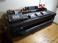 HP Designjet T120 Large Format A1 Printer Mint Condition