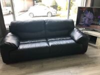2 x 3 seater leather sofas for sale