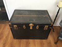 Vintage Overland Trunk NY - Antique Trunk / Chest