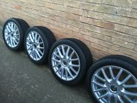 Set of genuine VW BBS wheels with tyres. Good condition. Fits VW golf,Passat not bora's.
