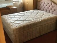 5ft king size divan bed/ mattress *collect today*