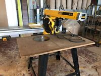 dewalt radial arm saw excellent condition, barely been used