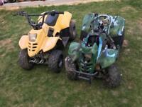 Quad bikes x 2 spares or repair kids 90c