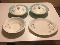 Vintage British Anchor Hostess Tableware 'Cornflower'