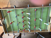 Vintage Foos Ball Table - Folds up to carry about . Must be seen .