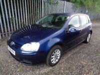 VOLKSWAGEN GOLF MATCH 1.9 TDI 2008 5 DOOR HATCH BLUE 91,000 MILES MOT 19/05/19 FULL SERVICE HISTORY