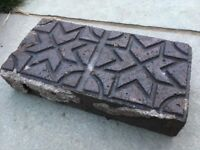 Victorian Clay Starburst pavers in blue/black (seven available)