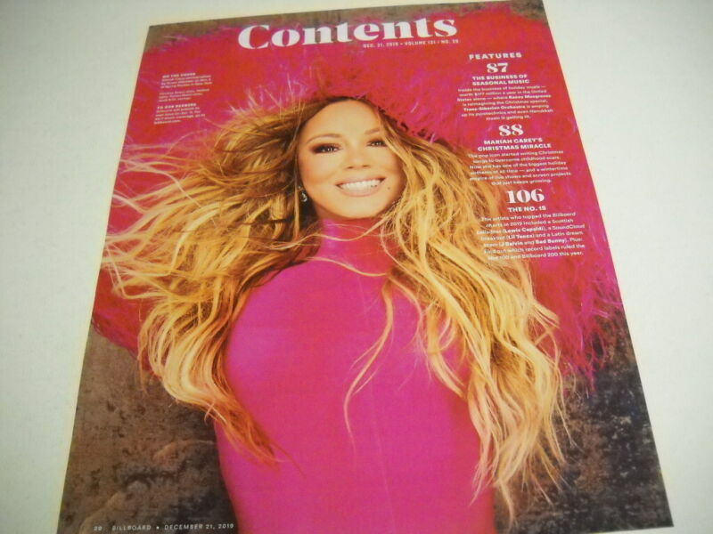MARIAH CAREY 2019 Contents full page as PROMO POSTER AD mint condition