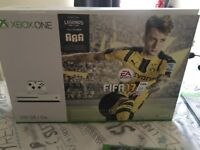 WHITE XBOX ONE S FIFA17 SPECIAL ED WITH LOADS OF GAMES AND ACCESSORIES! CAN DELIVER TAKE A LOOK