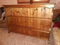 Pine dresser shelves