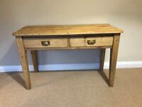 Early 20th Century 2 Drawer Antique Pine Kitchen Table
