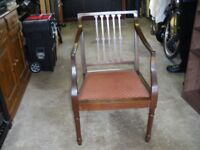 Carver chair, mahogany, excellent condition, £15