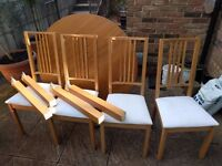 Excellent IKEA Extendable Dining Table BJURSTA w/ 4 x IKEA Chairs BORJE (RRP £350!!!)