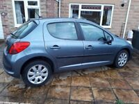 Peugeot 207. 5 door, service history, 11 months MOT. New cam belt & battery. low mileage.
