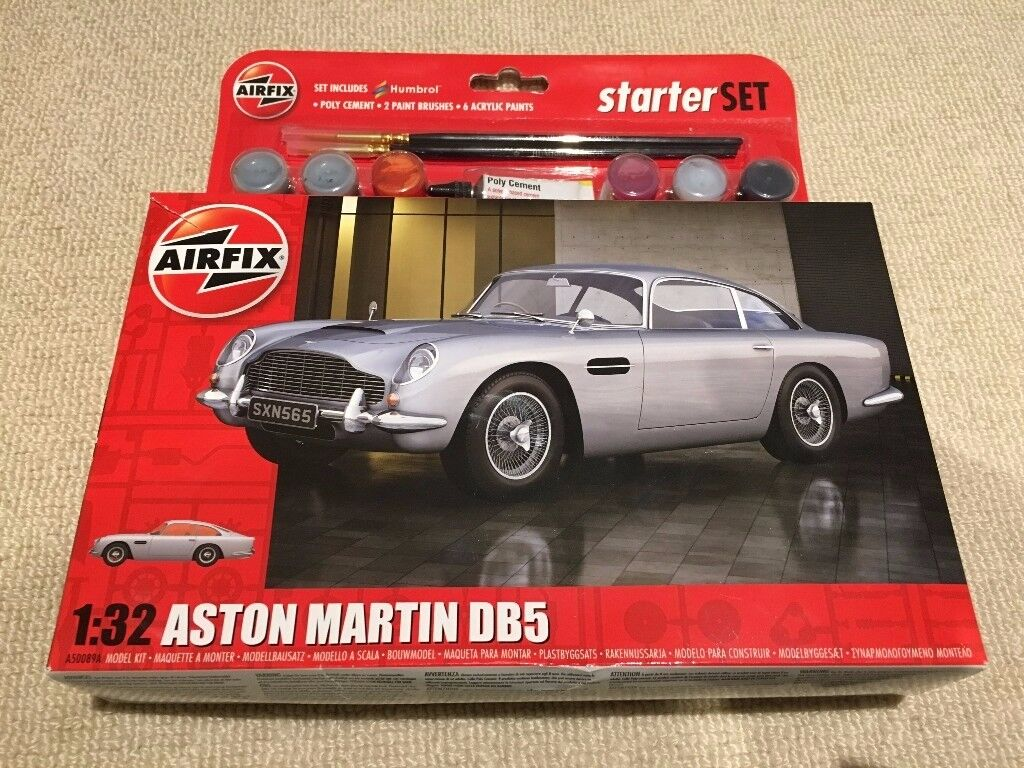 airfix 1/32 scale aston martin db5 starter set brand new unopened