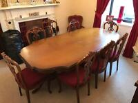 Dining table and chairs for sale. £299 ONO MUST GO