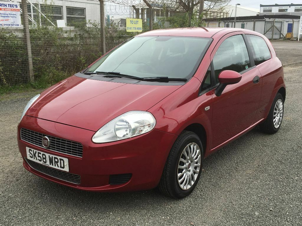 2008 fiat grande punto active 77 1 4 with year mot s h in metallic red fantastic first car. Black Bedroom Furniture Sets. Home Design Ideas