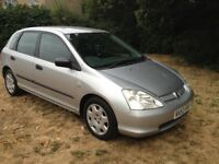 HONDA CIVIC 1.6 CHEAP CAR WITH 6 MONTHS MOT AND FULL SERVICE HISTORY- A VERY CLEAN RELIABLE CAR