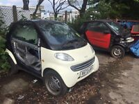Smart Car Fortwo 450 and Roadster 452 Breaking for Parts / Spares - engines panels suspension wheels