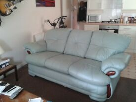 Leather Lime Green Very Comfy Sofa