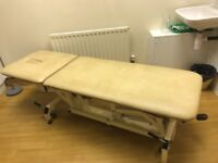 Excellent condition 2 piece Hydraulic Therapy or massage couch / plinth