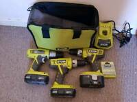 Ryobi one+ drill bundle package *dewalt, Milwaukee, makita, bosch, diy, tools, work*
