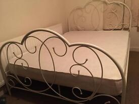 Next double bed frame with mattress-Free delivery