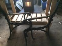 CAST IRON BENCH ENDS VERY CLEAN HEAVY