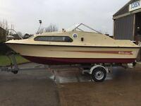 Shetland 570 motor boat with trailer