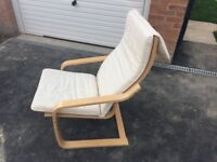IKEA relaxing chair in cream custion