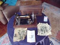 Antique Singer Sewing Machine 1898 kplt with tools and orig instruction booklet Seriel No 15064 282
