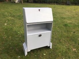 Hand Painted Vintage Art Deco Style Small Bureau in Grey
