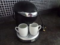 individual small 2 cup coffee machine for ground coffee.