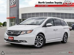 2014 Honda Odyssey Touring Fuel economy of a sedan, built in...