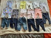 17 Girls Leggings and Jeans. Age 3-6 months