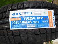 4 X 225 40 18 BRAND NEW WINTER TYRES MAXTREK/WINTERMAX STILL FOR SALE TODAY, KINGSMUIR FORFAR