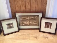 3X wooden pictures