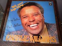VINYL RECORDS CHARLIE WILLIAMS EMI LP PLUS TURNSTYLE LP BOTH SIGNED