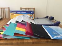STATIONERY - OFFICE EQUIPMENT OR ART AND CRAFT - LAMINATOR/PRECISION CUTTER/9 MISC FILES