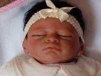 Beautiful life like sleeping ethnic 19 inch New born baby doll