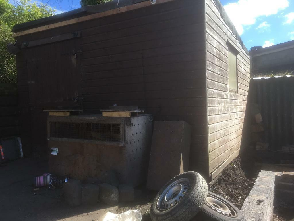 Wooden Garden Shed Workshop Ex Stable Chicken Hut In