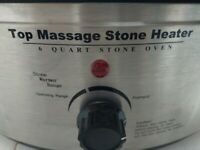 Hot stone heater and stones